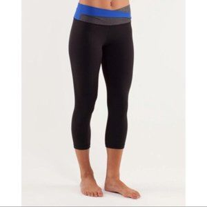 lululemon Astro Wunder Under Crops Black/Blue 6